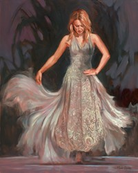 White Laced Dress by Mark Spain -  sized 24x30 inches. Available from Whitewall Galleries